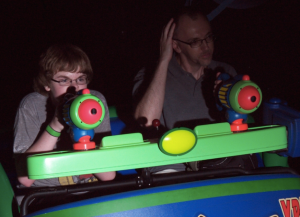 My husband had the presence of mind to Shane on Buzz Lightyear.