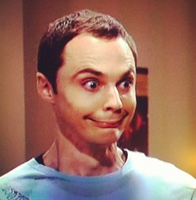 For comparison purposes, here is 2013's theme: the Sheldon smile.