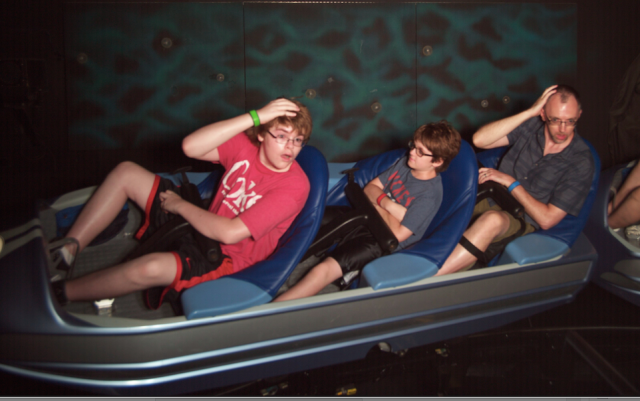 Getting better at our Space Mountain Shane timing - though we had one kid on a Shane strike.